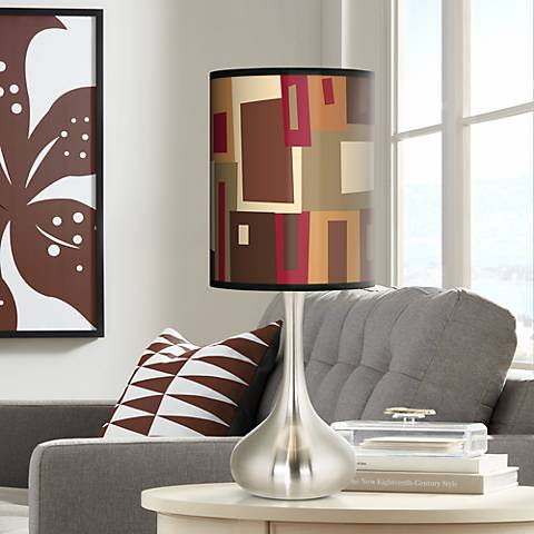 Earth Palette Giclee Droplet Table Lamp