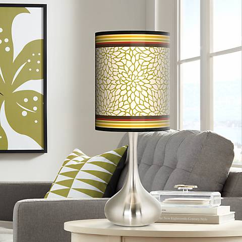 Stacy Garcia Spice Dahlia Giclee Droplet Table Lamp