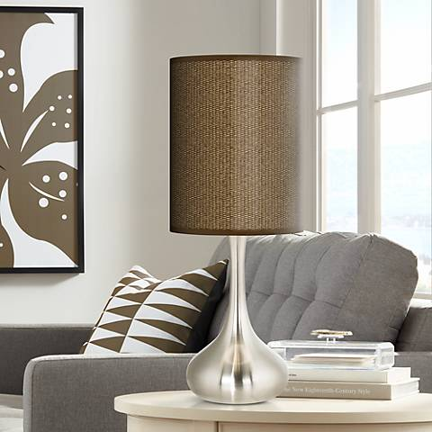 Khaki Giclee Droplet Table Lamp