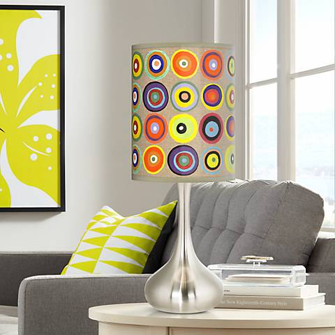 Marbles in the Park Giclee Droplet Table Lamp