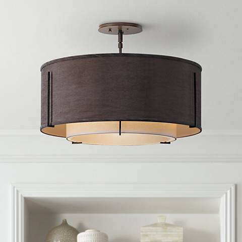 "Exos Collection Dual-Shade 23"" Wide Ceiling Light"