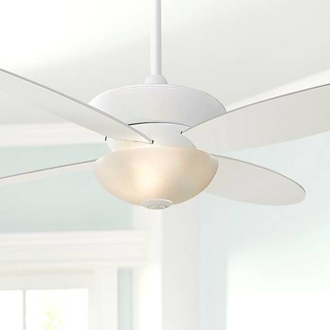 "52"" Minka Aire Zen White ENERGY STAR Ceiling Fan"