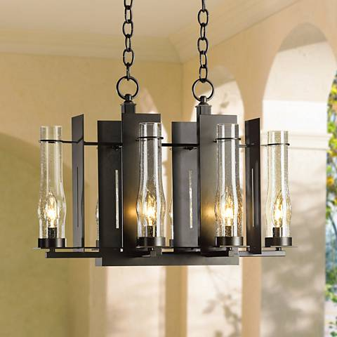 Hubbardton Forge New Town 6-Light Indoor-Outdoor Chandelier
