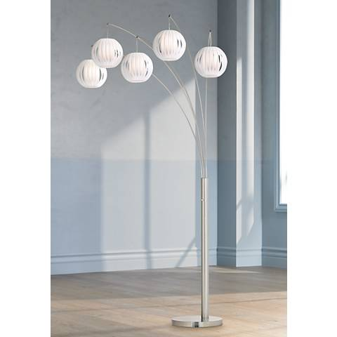 Lite source deion 5 light hanging arc floor lamp k6572 lamps plus lite source deion 5 light hanging arc floor lamp aloadofball Images