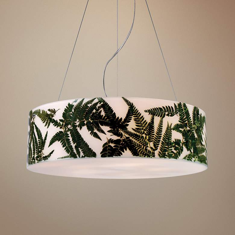 Modern Organics Collection Green Ferns Pendant Light