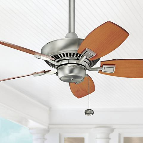 "30"" Kichler Canfield Brushed Nick Indoor Outdoor Ceiling Fan"