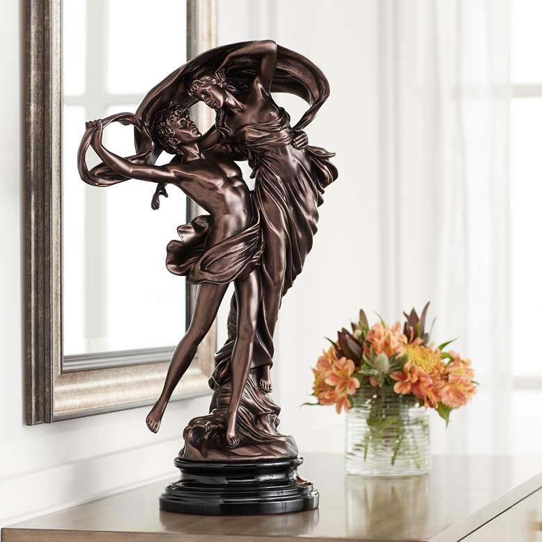 "Floating Dancing Couple Bronze Finish 25 3/4"" High"
