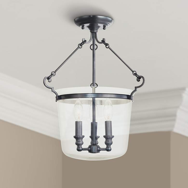 Hudson Valley Quinton Old Bronze Ceiling Fixture