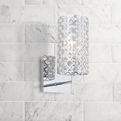 "Possini Euro Design Glitz 12 1/2"" High Crystal Wall Sconce"