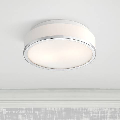Possini Euro Mavis 10 1 4 Quot Wide Opal Glass Ceiling Light