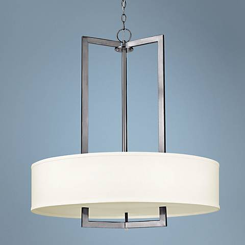"Hinkley Hampton Collection 30"" Wide Nickel Pendant Light"