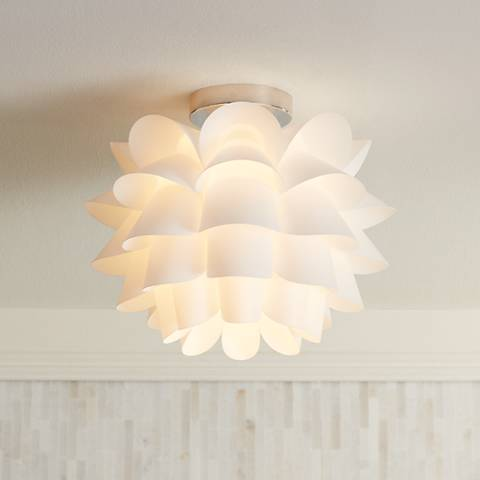 Possini euro design white flower 15 34 wide ceiling light m5873 possini euro design white flower 15 34 wide ceiling light mozeypictures Choice Image