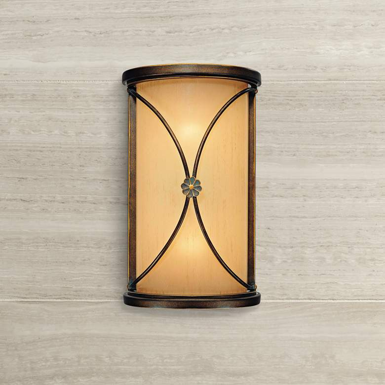 "Atterbury Collection 12"" High Deep Bronze Wall Sconce"