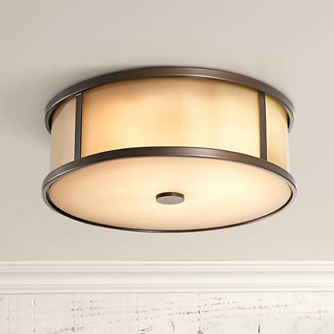 "Feiss Dakota 14"" Wide Indoor - Outdoor Ceiling Light"