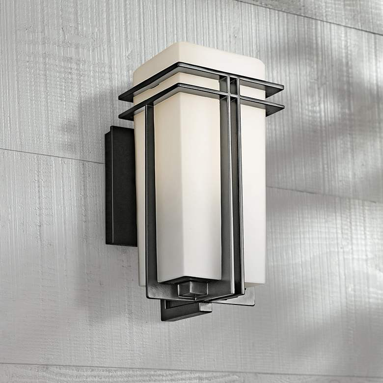 "Tremillo Collection Black 11 3/4"" High Outdoor Wall Light"