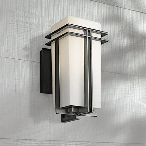 "Tremillo Collection Black 12"" High Outdoor Wall Light"