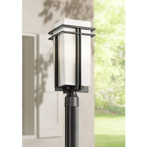pictures of kitchen light fixtures tremillo energy efficient 20 quot high black outdoor post 7466