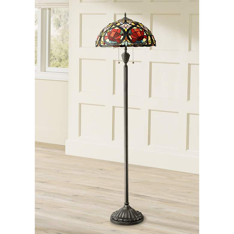 Quoizel Larissa Tiffany Art Glass Floor Lamp