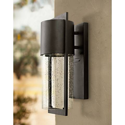 "Hinkley Shelter 15 1/2"" High Black Outdoor Wall Light"
