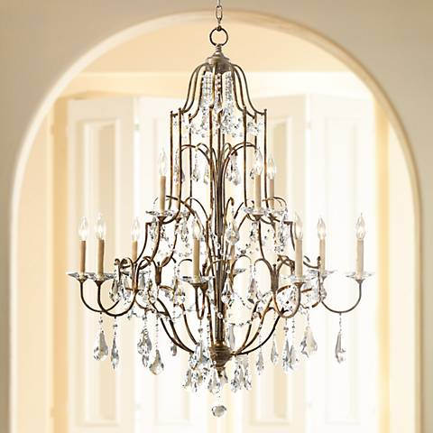 "Feiss Valentina 36 1/2"" Wide Oxidized Bronze Chandelier"