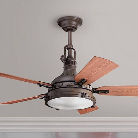 "44"" Kichler Hatteras Bay Tannery Bronze Finish Ceiling Fan"