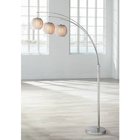 Lite Source Deion 3 Light Hanging Arc Floor Lamp N1912