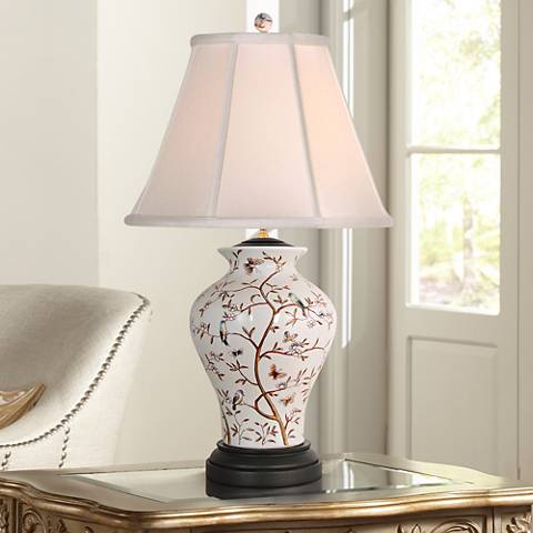 Birds in a Tree Porcelain Table Lamp