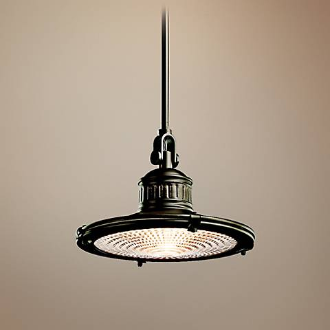 "Kichler Sayre Collection 12"" Wide Olde Bronze Mini Pendant"