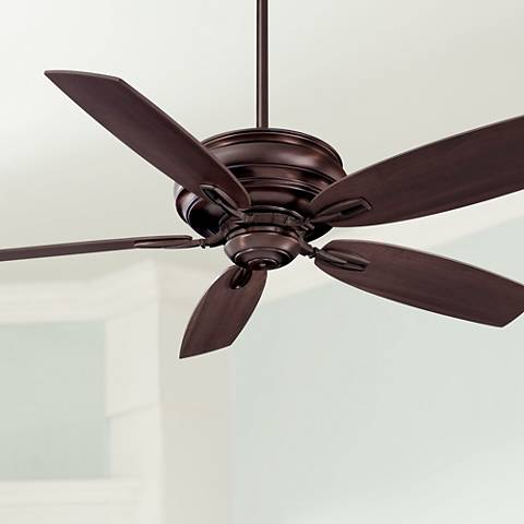 "54"" Minka Aire Timeless Dark Brushed Bronze Ceiling Fan"