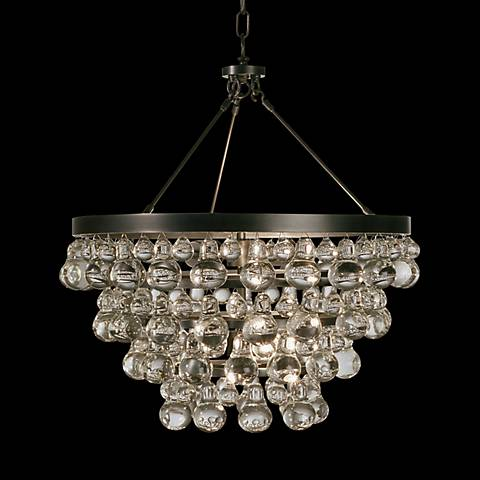 "Robert Abbey Bling 20 1/2""W 4-Light Bronze Chandelier"