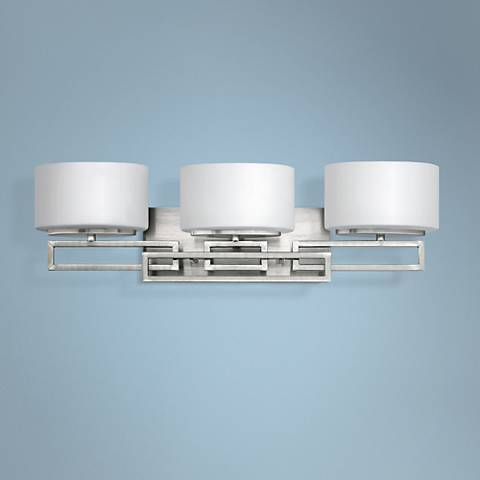 "Hinkley Lanza Nickel 25"" Wide Bathroom Wall Light"