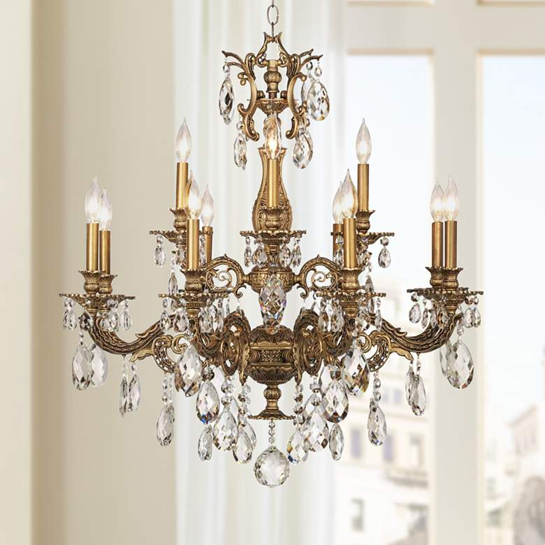 "Schonbek Milano 32 1/2""W Midnight Optic Crystal Chandelier"