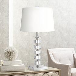Stacked Cubes Crystal Table Lamp by Vienna Full Spectrum