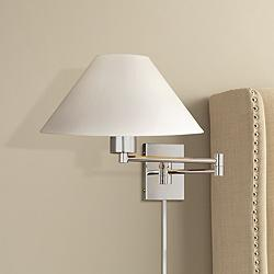 George Kovacs Boring Chrome Plug-In Swing Arm Wall Light