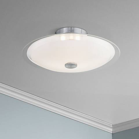 "Possini Euro Glass Disk 15"" Wide Round Ceiling Light"