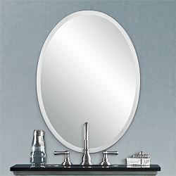 "Regency 22"" x 30"" Oval Beveled Wall Mirror"