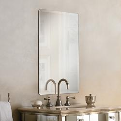 "Galvin 24"" x 36"" Frameless Beveled Wall Mirror"