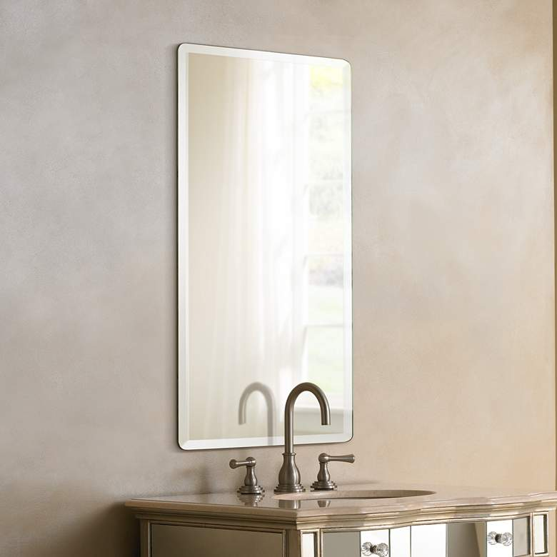 Frameless Rectangular 20 X 30 Beveled Wall Mirror
