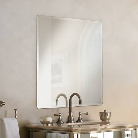 Galvin Frameless Beveled 36 Square Wall Mirror