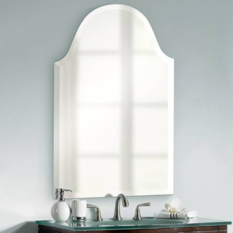 Crown Arch Frameless 32 Quot High Beveled Wall Mirror P1619