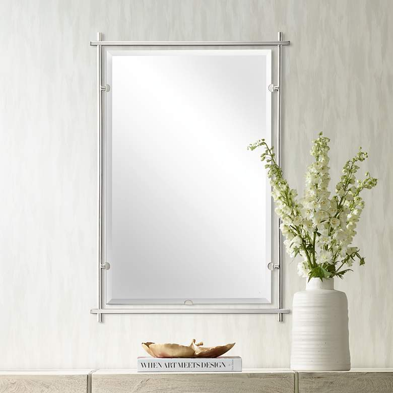 "Kichler Eileen Brushed Nickel 26 1/2"" x 39"" Wall Mirror"