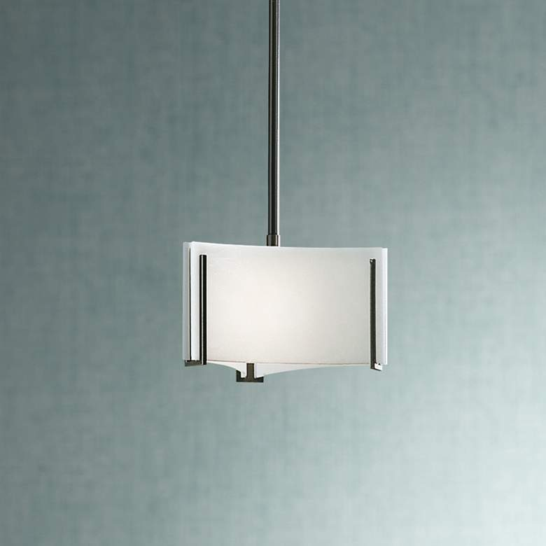 "Hubbardton Forge Exos Delta 8"" Wide White Glass"