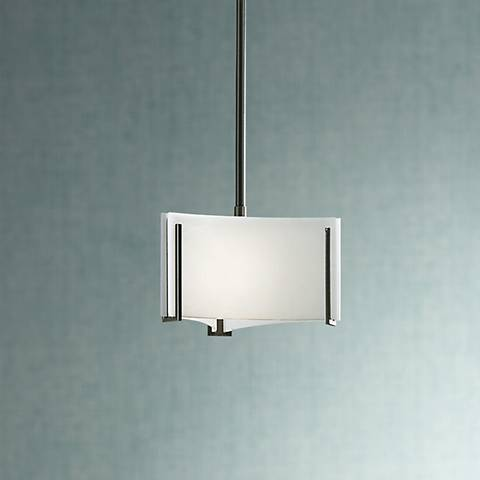 "Hubbardton Forge Exos Delta 8"" Wide White Glass Mini Pendant"