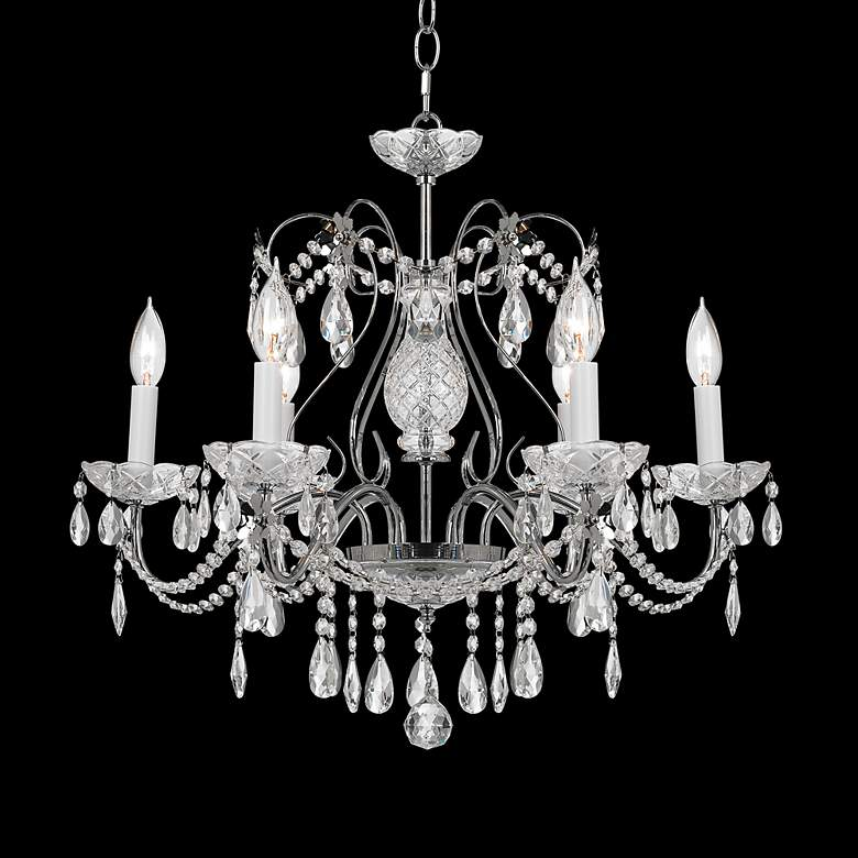 "Impact 24"" Wide Silver Regal Crystal Chandelier"