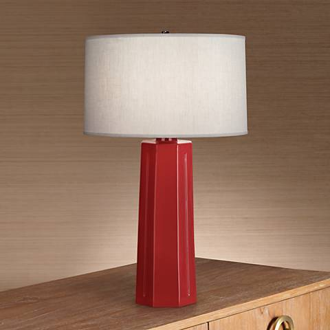 "Robert Abbey Mason Oxblood Red 26"" High Table Lamp"
