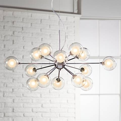 Possini euro design glass sphere 15 light pendant chandelier possini euro design glass sphere 15 light pendant chandelier aloadofball