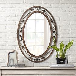 "Eden Park French Bronze 24"" x 34"" Oval Wall Mirror"
