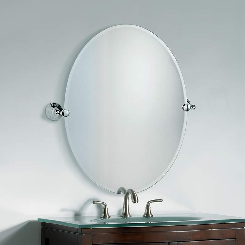 "Charlotte Polished Chrome 23"" x 26 1/2"" Tilt"