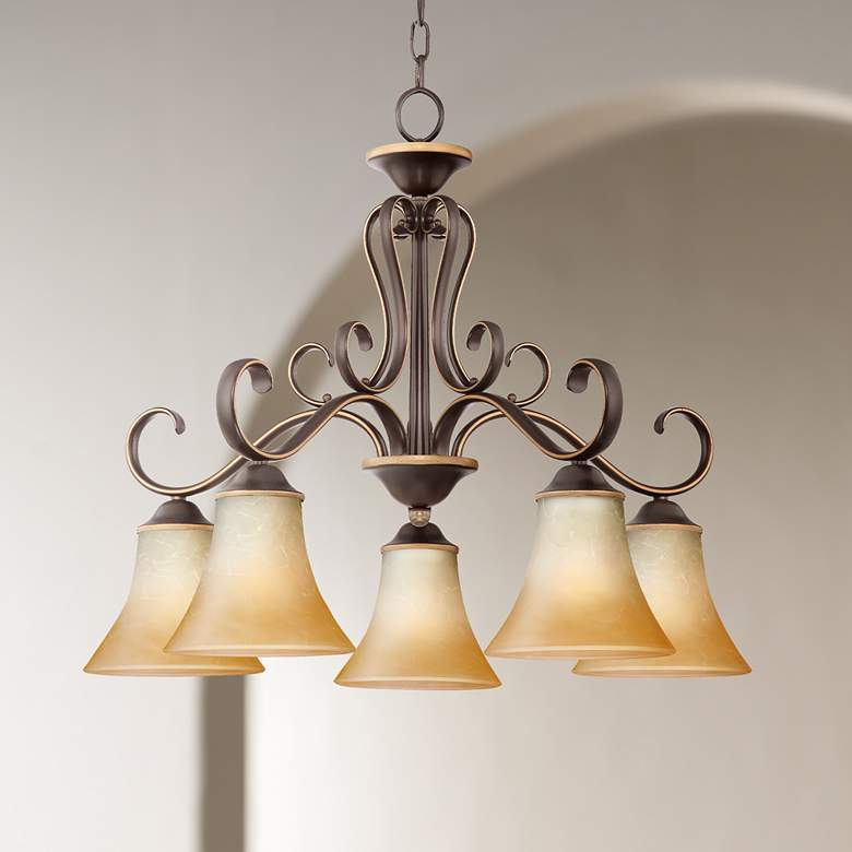 Duchess Palladian Bronze Dinette Five Light Chandelier
