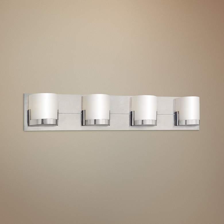 "George Kovacs Convex 29"" Wide Bathroom Wall Light"